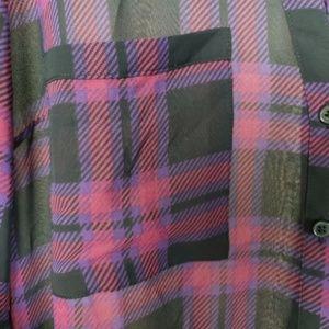 Express Tops - Express Portofino Plaid Shirt